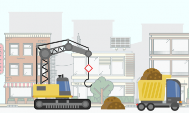 cartoon image of construction - links to the Building Codes page
